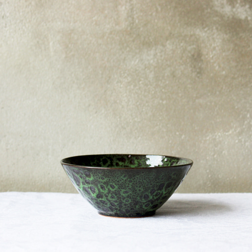side bowl Ⅱ - green leopard