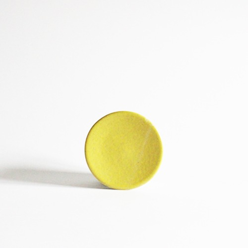 plate (10.5cm) - lemon [sold out]